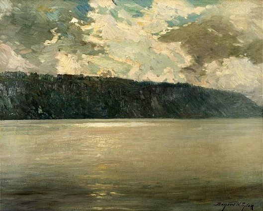 The Hudson River With Sunlight On The Palisades