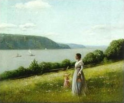 Woman Looking Out Over The Palisades