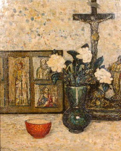 Still Life With Altar And Crucifix