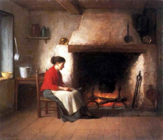 By The Hearth - Lady Beside Hearth