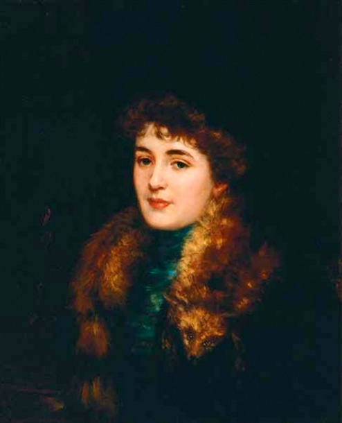 Woman With Fox Collar