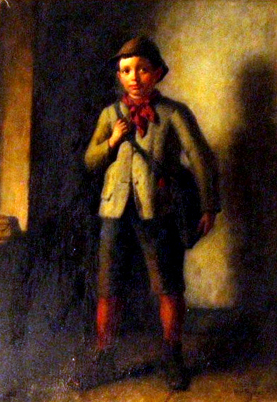Young Boy With Satchel