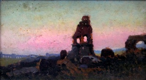 Ruins At Sunset