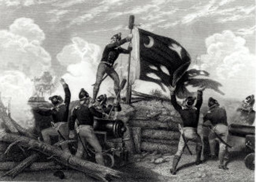 The Heroism Of Sergeant William Jasper In Defence Of Fort Moultrie, South Carolina, 12th May 1780
