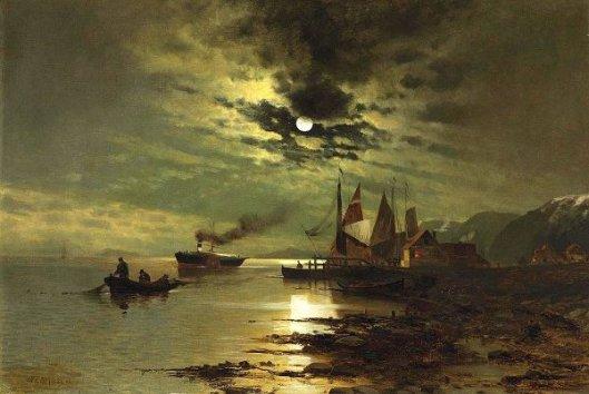 Hudson River Under The Moonlight