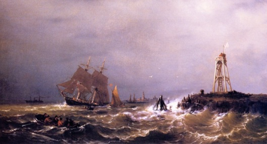 Sailing Ships Close To Shore