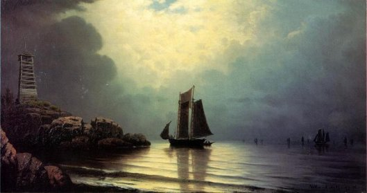Sailing Vessel Off A Rocky Point