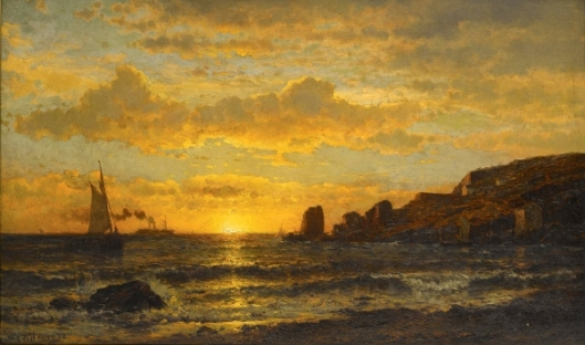 Sunset Along The Coast