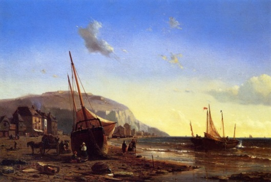 The Harbor At Dieppe