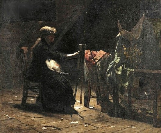 An Artist At Her Easel