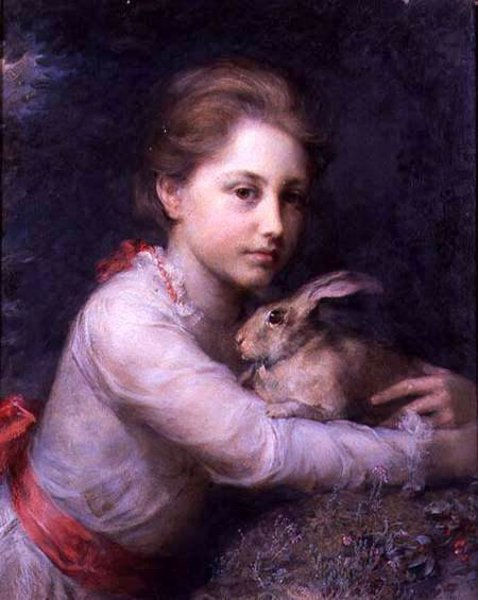 Minna Sophia Farrer Holding A Hare