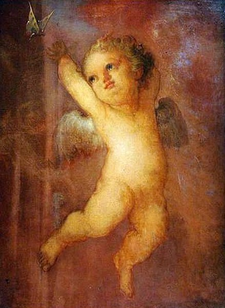 Putti With Butterfly