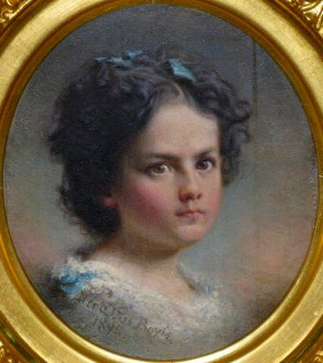 Young Girl With Rosy Cheeks And Brown Eyes