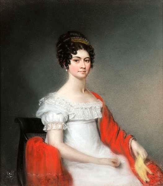 A Young Lady In A White Regency Dress