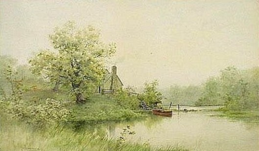 Landscape With A House And Rowboat Along A Stream