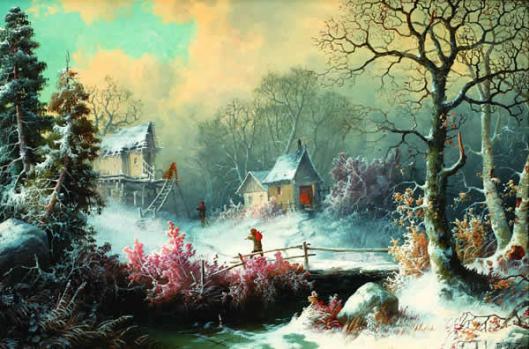 Over The Bridge In Winter