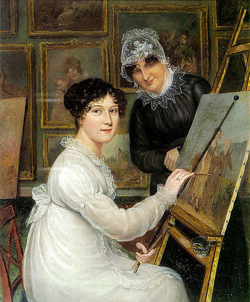 Self-Portrait With Her Mother Ellen