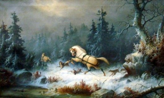 Winter Landscape With Horses
