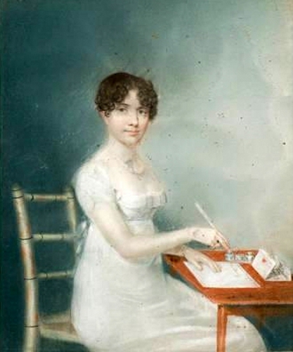 Young Lady Writing A Letter