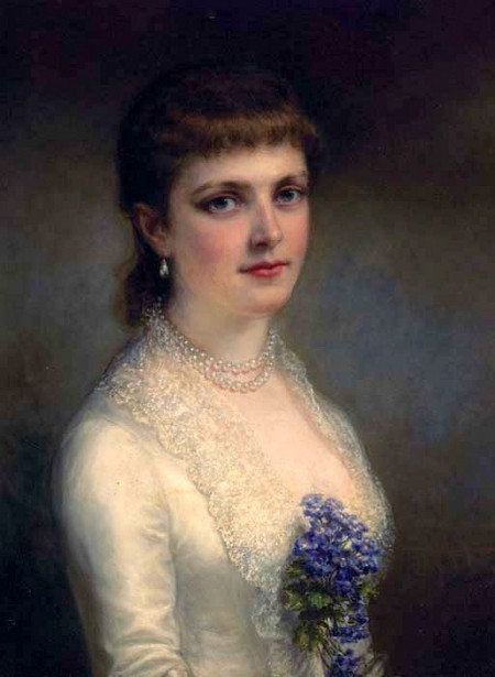 A Lady In White Dress, said to be Emily Astor