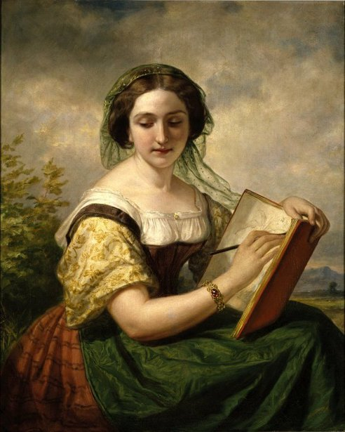The Sketcher - A Portrait Of Mlle Rosina, A Jewess