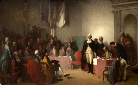 Washington Resigning His Commission As Commander-in-Chief