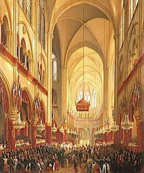 Baptism Of Monseigneur Le Comte de Paris In The Church Of Notre-Dame, May 2nd 1841