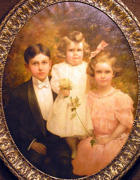 Portrait Of Three Children - Emma Flower Taylor's Children