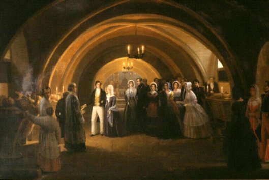 Queen Victoria and Louis Philippe Visit The Tombs Of The Comtes d'Eu, September 5th 1843