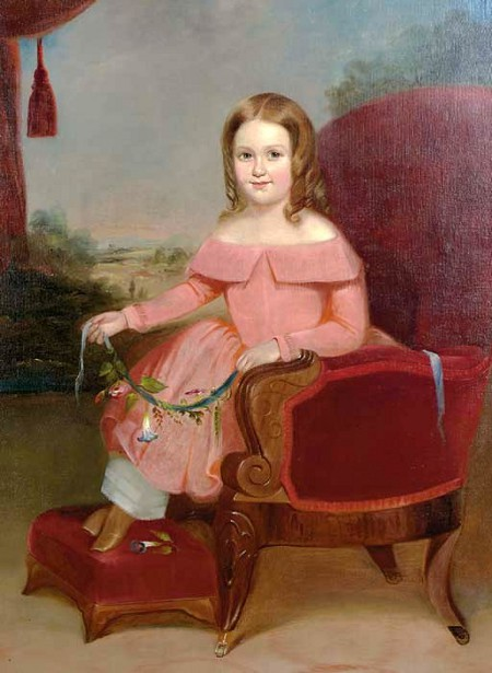 Young Girl In A Red Chair