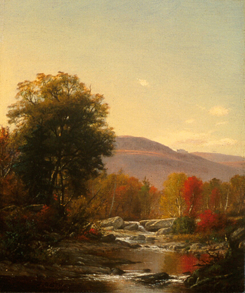 Autumn Landscape With View Of Catskill Mountain House