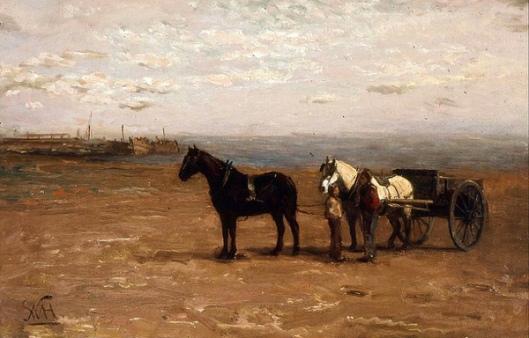 Beach Scene With Horses