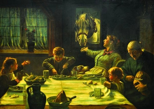 Family Dinner (after Frederick G. Cotman's One Of The Family)