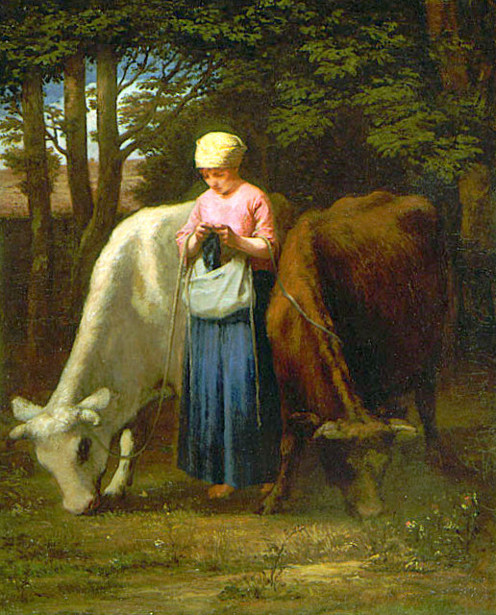 Girl With Cows