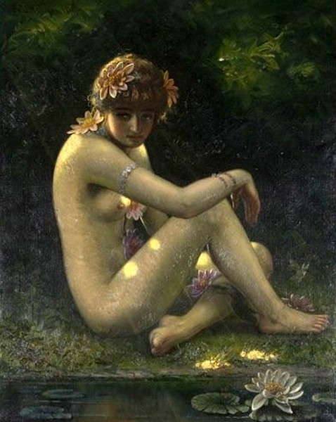 Nymph By The Waters Edge