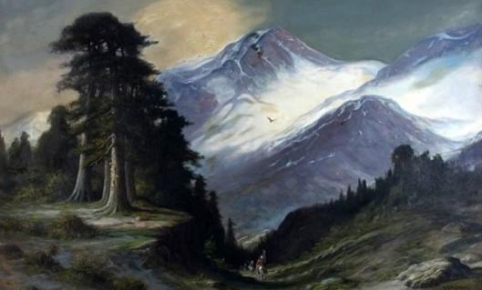 Western Landscape With Indians On Horseback