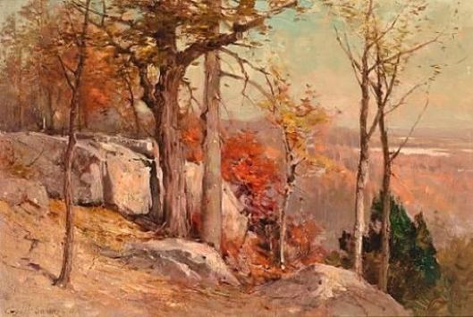 Autumn Overlooking The Valley