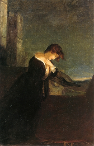 Lady On The Battlements Of A Castle