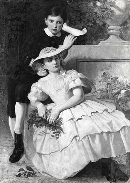 Leutze Children, Eugene And Ida