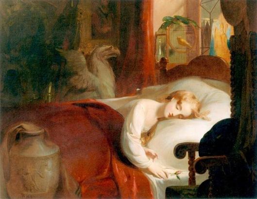 Little Nell Asleep in The Curiosity Shop