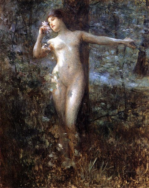 Nude In The Forest