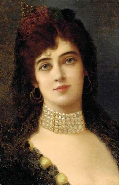 A Young Beauty With A Pearl Choker