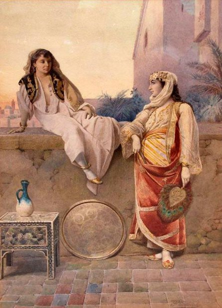 Two Women On The Terrasse