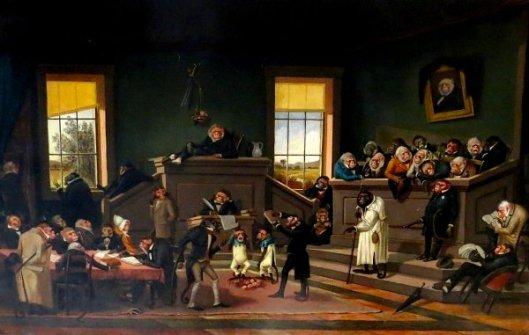 Anthropomorphic Courtroom Scene