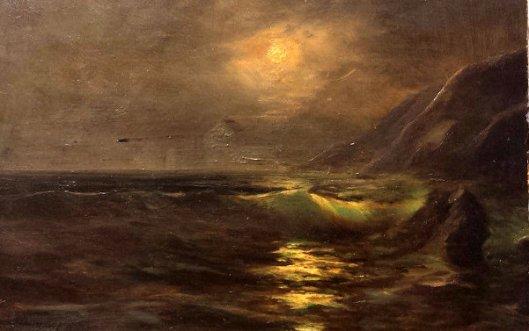 California Coast Nocturnal Seascape