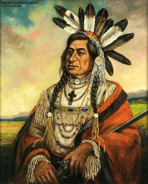Chief Little Crow (Ta-oyoti-doota), Sioux