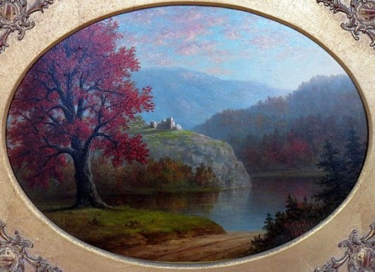 Fall Landscape With Ruins