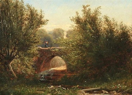 Landscape With Ducks And Bridge