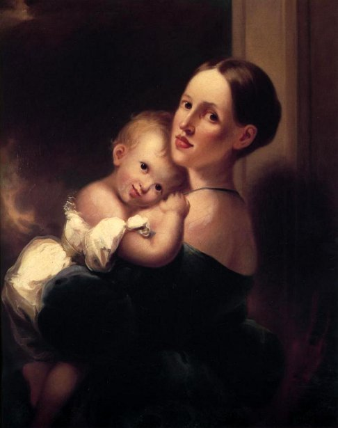 Mrs. James Miles Bush And Her Daughter, Nannie
