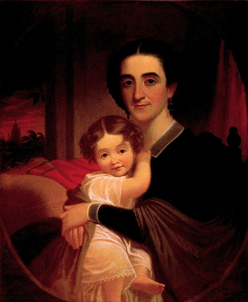 Mrs. Robert Levi Todd (Sallie Hall) And Daughter, Matilda Tete